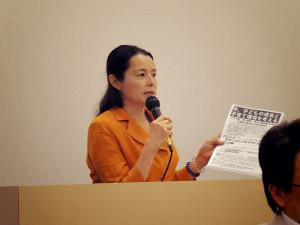20130625有泉慶美登壇の様子